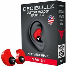 Decibullz - Custom Molded Earplugs, 31dB Highest NRR, Comfortable Hearing for