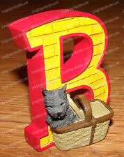 Letter B (Wizard of Oz, Yellow Brick Road by Westland, 17002) Toto in Basket