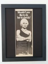 BLONDIE*Rip Her To Shreds*1977*RARE*ORIGINAL*POSTER*AD*FRAMED*FAST WORLD SHIP