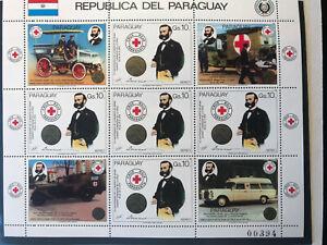 Paraguay 1985 Kleinbogen Rotes Kreuz Henri Dunant Nobelpreis Frieden 1901 MNH