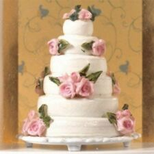 WEDDING CAKE BEAUTIFUL SIX TIER CAKE FOR 12TH SCALE DOLLS HOUSE