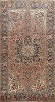 Antique Geometric Muted Heriz Serapi Hand-knotted Area Rug Wool Carpet 8x12 ft.