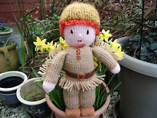 "Hand-knitted ""Davy Crockett"" Soft Toy  - Ref 1032"