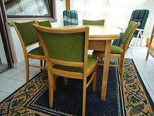 Esszimmer-Garnitur~1918 ART-DECO 5 Stühle Federkern mit ovalem Tisch super erhal
