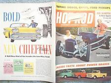 1958 MARCH HOT ROD MAGAZINE VOL 11 NO 3  DODGE CHEVY FORD PICKUPS GO KARTS