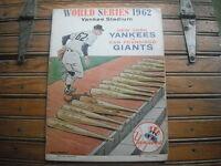 1962 New York Yankees Stadium Official Program Scored Game Three VG Condition