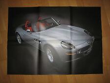 BMW Z8 Faszinationsflyer / Prospekt aufgeklappt ein großes Poster 60 x 83cm NEU