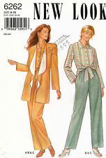 VTG New Look  Misses' Jacket,Shirt&Trousers Pattern 6262 Size  8-18