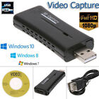 Portable USB 2.0 Port HD HDMI 1080P 60fps Video Capture Card Monitor for PC HQ