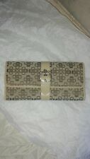 "AUTHENTIC "" CRAFT & BARROW "" WOMEN'S BROWN DESIGNER TRI-FOLD WALLET W/BUCKLE"