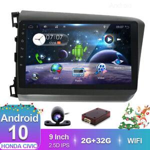 Car Stereo For Honda Civic 2012 Android 10.0 GPS Head Unit Navigation WIFI DAB