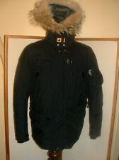Parajumpers Kodiak Men Parka Navy Black Down Parka Jacket Size L Coat minty