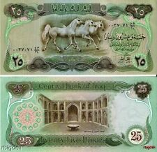 Iraq 25 Dinar P-66b Saddam Hussein Banknote Note Currency Paper money 1980  UNC