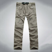 Men's Quick Dry Detachable Long Pants Sports Outdoor Hiking Cargo Trousers Fast*