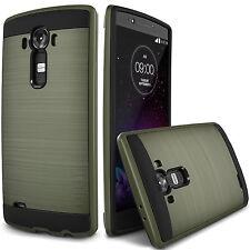 LG G4 Dual Layer Slim Hybrid Metallic Case Verge Extreme Anti-shock Skin Green
