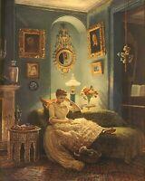 An Evening at Home,John Poynter Art Print 8 x 10 1888