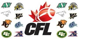 2021 CANADIAN FOOTBALL LEAGUE UPDATED SCHEDULE FRIDGE MAGNETS 5 X 3.5 (YOU PICK)