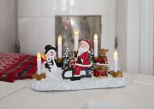 Fensterleuchte m. 5 x LED Kerzen Weihnachtsmann auf Schlitten Größe ca. 21x35 cm