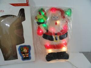 Noma Expressions Plastic Christmas Window Decoration 20 Light Santa
