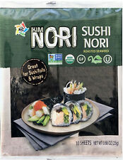 Kosher Organic 10-100 Sheet Kimnori Sushi Nori Roasted Seaweed Rolls Wraps Laver