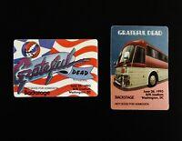 Grateful Dead Backstage Pass RFK Washington DC 1993 6/25/93 6/26/93 USA Tour Bus