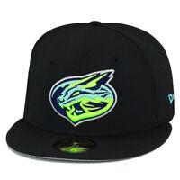 New Era Lynchburg Hillcats Fitted Hat Cap Class A Advanced Minor League Black