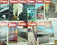 (Lot of 11) Vtg 1970 Trains Magazines Guides Decor Collectibles