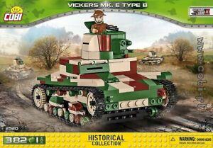 COBI Vickers Mk E Type B  ( 2520 ) 382 blocks  WWII  WoT  British  tank