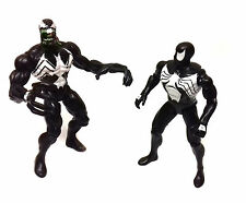 "Marvel Comics Vintage Retro 90's BLACK SPIDERMAN & VENOM  5"" action figure toys"