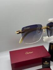 Cartier Buffalo Horn Smoke Tinted Lenses C Décor Sunglasses Eyeglasses