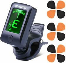Guitar Tuner Clip On Tuner Chromatic Digital 5 Modes Tuner with 12 Picks