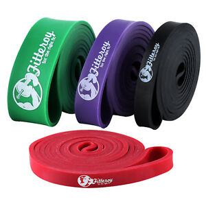 """Pull Up Assist Bands, 41"""" Resistance Powerlifting Bodyweight Training Bands Gym"""