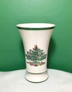 "Vintage SPODE CHRISTMAS TREE Small 5-3/4"" Porcelain SPILL VASE England"