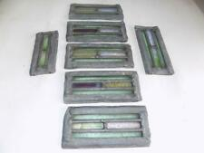 Art Deco Rare Set Of 7 Stained Glass Panel Blocks Salvaged From A Church