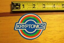 Kryptonics Skateboards Wheels 80's Vintage Skateboarding STICKER
