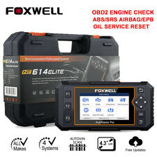 Foxwell NT614 Car OBD2 Diagnostic Tool Engine ABS SRS Oil Reset Code Reader Scan
