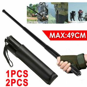 "19.3"" Telescopic Stick Portable Pocket Self Defense Retractable Hiking Tools AU"