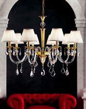 Lampadario in cristallo 8 luci colore oro coll. Dese 5030/8