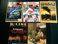 5 Lot Model Railroad Magazines LIONEL STEAM RAILWAY, K-LINE, CLASSIC TOY TRAINS