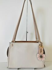 COACH 28484 CHALK MULTI COLORBLOCK ROGUE SHLDR BAG + STUDDED TEA ROSE CHARM