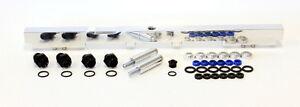 AEROFLOW Billet EFI Fuel Rails (Polished) Suit Toyota 2JZ (14mm Injectors)