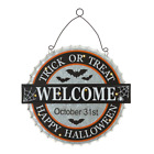 14 in. L Metal Lighted Halloween Bottle Cap Wall Sign