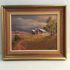"Vintage Painting By Pat Godfrey ""Old Australian Homestead"""