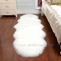 Natural Pelt Faux Fur Sheepskin Chair Mat Soft Faux Fur Balcony Carpet Large Rug