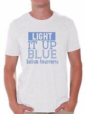 Light it Up Blue T-shirt Autism Awareness Month Shirts April