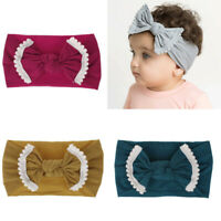 Baby Girl Headband For Kid Bow Hairband Headband Stretch Turban Knot Head Wrap