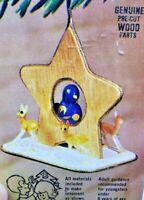 Arrow Deer Star Bird Hand Painted Vintage Wood Christmas Ornament Craft Kit NOS
