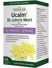 Natures Aid Ucalm St Johns Wort 300mg - 120 Tablets  LOW MOOD & MILD ANXIETY