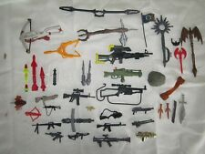 Lot of 44 Vintage Toy Weapons / Accessories Guns,Rifles,Missiles,Rockets,Knifes