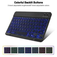 Rechargeable Wireless Keypad Slim Bluetooth Keyboard RGB Backlit Mini Keyboard